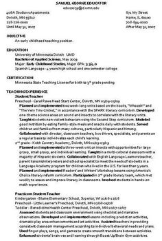 Child Care Provider Resume Creating An Internship Program Resources And Examples  Oregon .