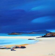 Sandbar Gulls by Scottish Contemporary Artist Pam CARTER