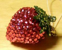 Swarovski Decorated Strawberry Strap.