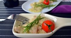 Spanish chicken with almond sauce recipe! Get this delicious and tender chicken thighs recipe with an easy homemade almond and pine nut sauce!