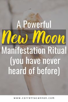 New moon are a great time to set new intentions. This new moon ritual will help you set intentions that are aligned with your higher self and your highest path #newmoonritual #astrology #spirituality