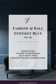 Stiffkey Blue by Farrow and Ball Paint Colour Guide