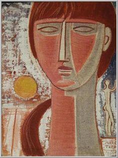 Mario Tozzi: 1969 Testina (olio su tela 35x27 - Collezione Privata Bari - Archivio n.1952)