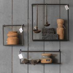 Wandrek metaal zwart 75 x 16 cm - Kapstokken haken en rekjes - Woonaccessoires en decoratie - Koken & Wonen