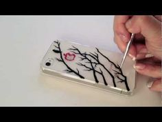 Drawing on iPhone Case: A Bird On The Tree, My Crafts and DIY Projects
