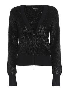 $373.0. EMPORIO ARMANI Top Viscose Blend Cardigan #emporioarmani #top #knit #cardigan #clothing