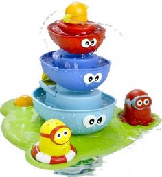 Fuente Bañeras Apilables;  Pásatelo pipa con tu fuente apilable! A medida que los personajes se apilan,¡el agua va fluyendo a través de cada convirtiéndose en una divertidísima fuente! ¿A que mola la hora del baño? ;)... En  http://www.opirata.com/fuente-baneras-apilables-p-26062.html