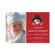 Pirate theme invitation
