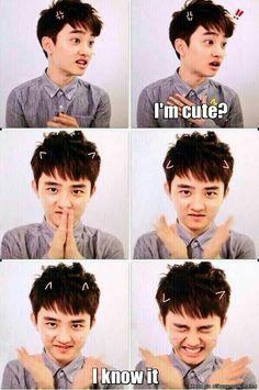 D.O you are such a squishy~! So cute~! keke I wanna squish your cute face and kiss your cheek~! *pouts* Saranghae Kyungsoo oppa~ most adorable human being ever I luv ya! Kyungsoo, Exo Ot12, Kaisoo, Chanbaek, 2ne1, Kpop Exo, K Pop, Got7, Dramas