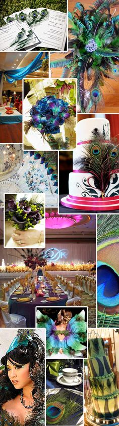 Image Detail for - peacock themed wedding centerpieces
