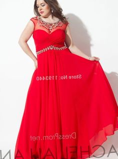 a389e3b04a7 A Set Of Plus Size Prom Dresses with Long Sleeves to Your Clothing  Wardrobe. Red Prom Dress Plus Size Pluslook Collection.