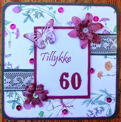 60 years birthday card