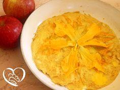 Frittata con fiori di zucca http://www.cuocaperpassione.it/ricetta/332c1f4c-9f72-6375-b10c-ff0000780917/Frittata_con_fiori_di_zucca