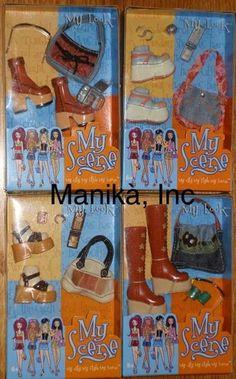 "2002 Set of 4 My Scene Barbie ""My Look"" Accessory Sets by Mattel -New, NRFP, Mint Box"