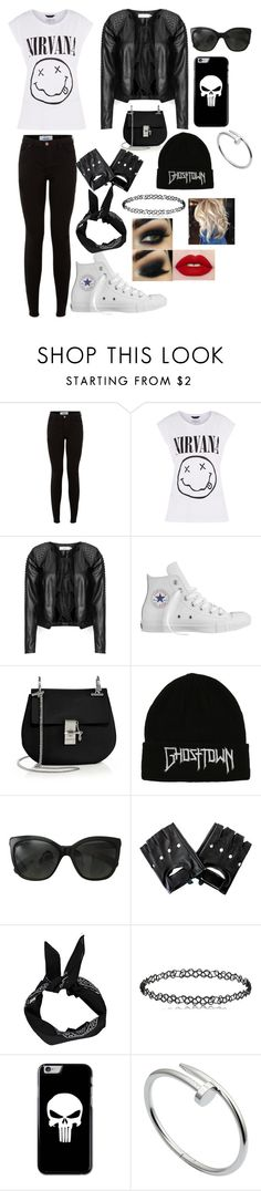 """""""Smells Like Teen Spirit"""" by moose33 ❤ liked on Polyvore featuring Zizzi, Converse, Chloé, Chanel, Boohoo and Cartier"""