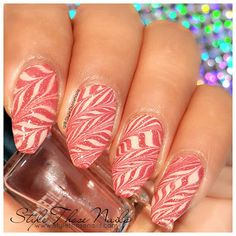 Style Those Nails: Zig-Zag Water Marble Nails using DIY water marble decal technique- (Video Tutorial)