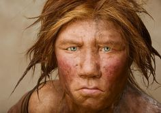 """Like some other Neanderthals, """"Wilma,"""" a DNA-based reconstruction, was red-headed, freckled, and fair.    The Neanderthals are both the most familiar and the least understood of all our fossil kin.    For decades after the initial discovery of their bones in a cave in Germany in 1856 Homo neanderthalensis was viewed as a hairy brute who stumbled around Ice Age Eurasia on bent knees, eventually to be replaced by elegant, upright Cro-Magnon, the true ancestor of modern Europeans."""