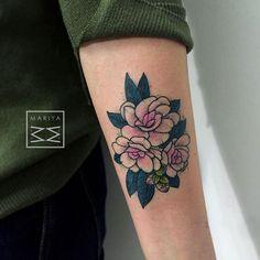 Pretty dotwork flowers by Mariya Summer