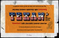 UK - Rowntree-Mackintosh - Texan chocolate candy bar wrapper - 1970s by JasonLiebig