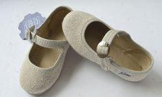 Zapatos de lino con hebilla. Color Natural( Verano)