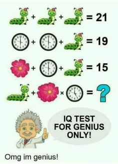 IQ Test for genius only! Can you solve the below Caterpillar Clock Flower Puzzle ? ANSWER 26 is the answer Explanat. Math Puzzles Brain Teasers, Math Logic Puzzles, Math Games, Iq Puzzle, Puzzle Books, Funny Questions, Math Questions, Math Riddles With Answers, Puzzle Photo