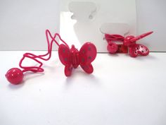 Vintage 80's Plastic Butterfly Hairbands by SHOPHULLABALOO on Etsy
