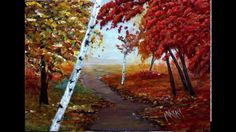 Learn to Paint an original Fall Landscape Painting at I Paint Today Art Studio in Chelmsford, Ma. This slideshow includes the 7 stages from a conceptual sket. Painting Courses, Art Courses, Kids Art Class, Art For Kids, Landscaping Jobs, Learn To Paint, Landscape Paintings, Art Gallery, The Originals