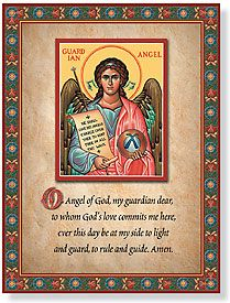 Guardian Angel Inspirational Plaque