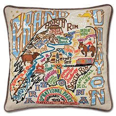 Catstudio Grand Canyon Pillow - Geography Collection Home Decor *** To view further for this item, visit the image link.