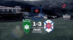 Resultado do 4º jogo de preparação da época 15/16.  Golos de Mailó (SCC) e Tiago Silva, Fábio Sturgeon e Abel Camará (CFB)