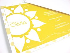 You Are My Sunshine Invitations & Baby Shower by nelladesigns, $27.00
