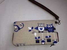 Owl purse handmade/ owl clutch/ swoon/ della/