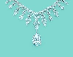 This Tiffany & Co. necklace dazzles with more than 300 pear-shaped and round brilliant diamonds