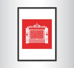 Liverpool FC Shankly Gates Print (White)