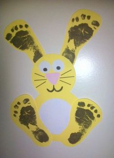 footprint bunny craft | Crafts and Worksheets for Preschool,Toddler and Kindergarten