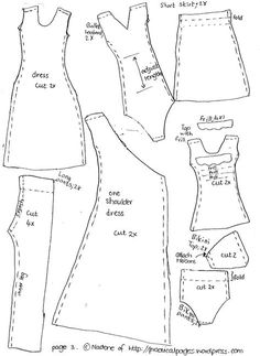 Barbie doll clothing patterns