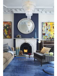 Instant Update    Need a new look fast? Freshen your home by painting the entire room, a single wall, or a small space like the area above the mantle. Rehang the artwork, rearrange a few accessories, and update your pillows for a quick weekend makeover.