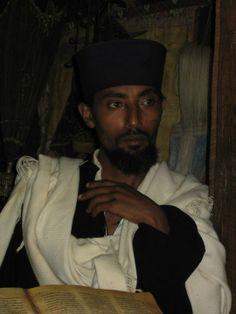 Monk from a monastery on Lake Tana, Ethiopia