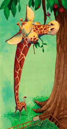 long necked giraffe by Gene Barretta
