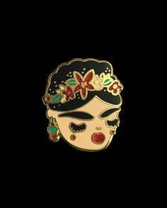 Frida Kahlo pin from @bravekidsclub  Viva  la  Vida   Buy it through their link in bio!