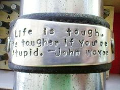 Life is tough.  It's tougher if you're stupid. - John Wayne  In the 9am PT Jewelry auction standby 5/27/2012 Silverware Jewelry, Spoon Jewelry, Metal Jewelry, Jewlery, Bullet Jewelry, Silver Jewellery, Boho Jewelry, Vintage Jewelry, Stamped Jewelry