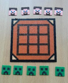 Unofficial Minecraft Inspired Creepers and Steve's Game - Novelty Gift made with Hama Mini Beads by Pixel