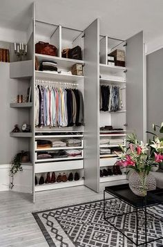 Floor to ceiling wardrobe