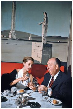 "Alfred Hitchcock and Vera Miles. New York City, 1957 "" Photo Elliott Erwitt """
