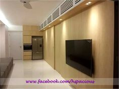 Residential TV Feature Wall with Louver Panel Storage Tv Feature Wall, Dining Area Design, Living Spaces, Design Inspiration, Contemporary, Storage, Purse Storage