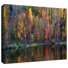 'Reflections Panoramic' by David Liam Kyle Photographic Print Gallery-Wrapped on Canvas | Wayfair