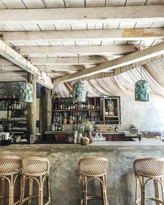 beach restaurant A Complete Guide To Tulum: Mexicos Most Stylish Beach Getaway - Live Like Its the Weekend Khao Lak Beach, Lamai Beach, Beach Cafe, Beach Town, Beach House, Bamboo Bar, Tulum Beach, Tulum Mexico, Tropical Style