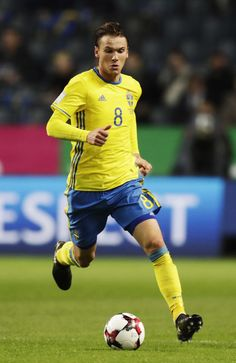 Albin Ekdal of Sweden during the FIFA 2018 World Cup Qualifier between Sweden and Bulgaria at Friends Arena on October 10, 2016 in Solna, .