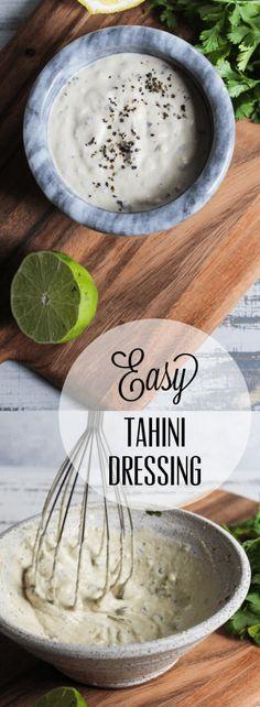 EASY TAHINI DRESSING