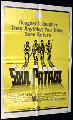 SOUL PATROL (1976) Original Movie Poster   #Blaxploitation #Exploitation #Film